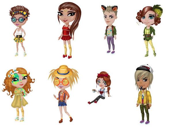Примеры готовых персонажей в Аватарии