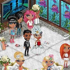 Свадьба в Аватарии, жених и невеста